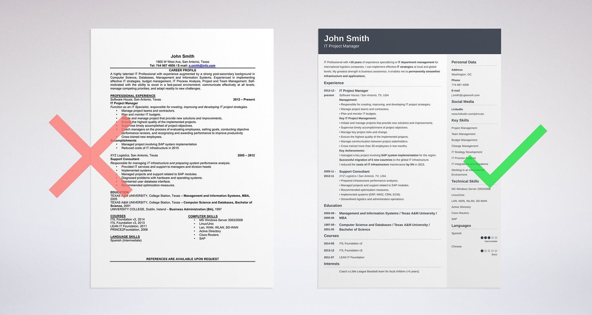 Objective in a resume example