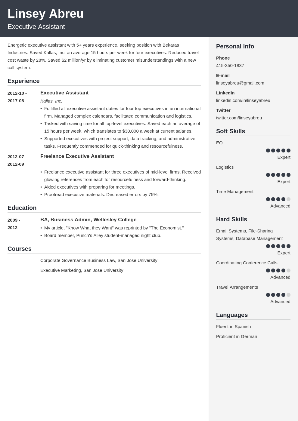 executive assistant resume examples template cubic