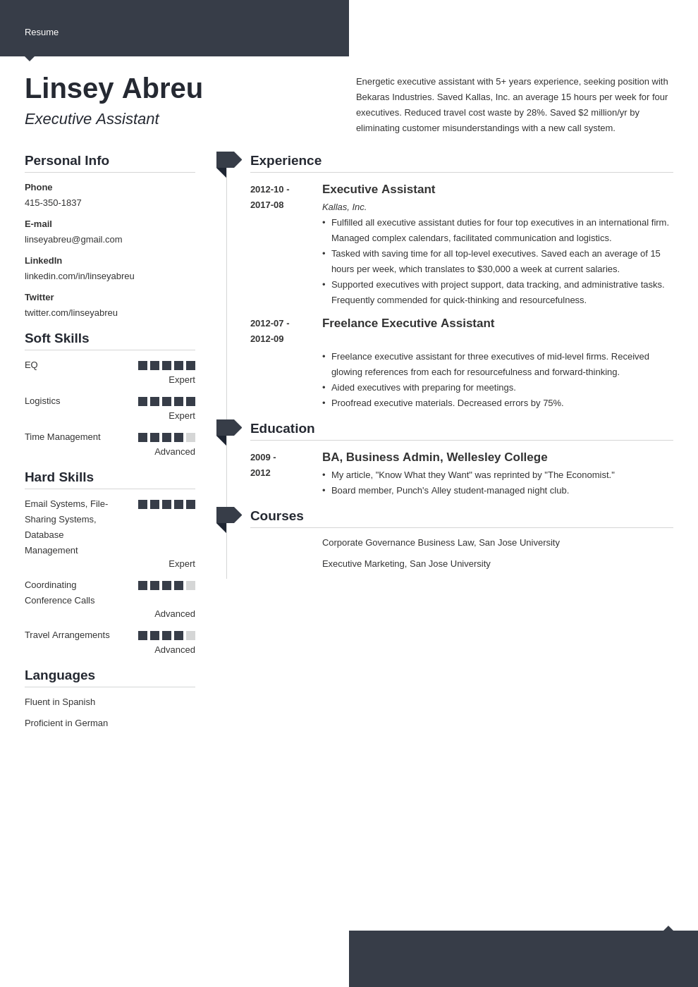 executive assistant resume examples template modern
