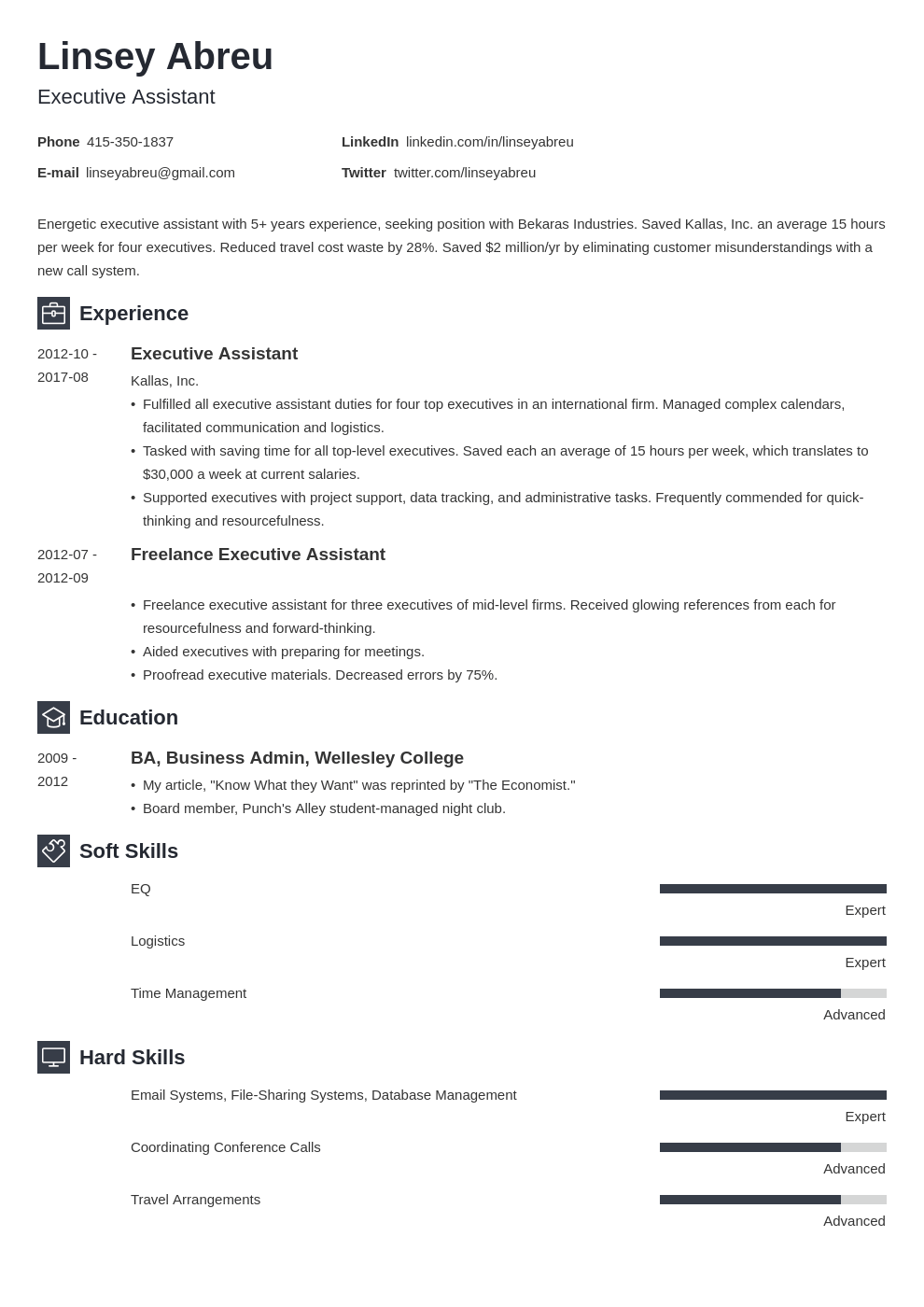 executive assistant resume examples template newcast