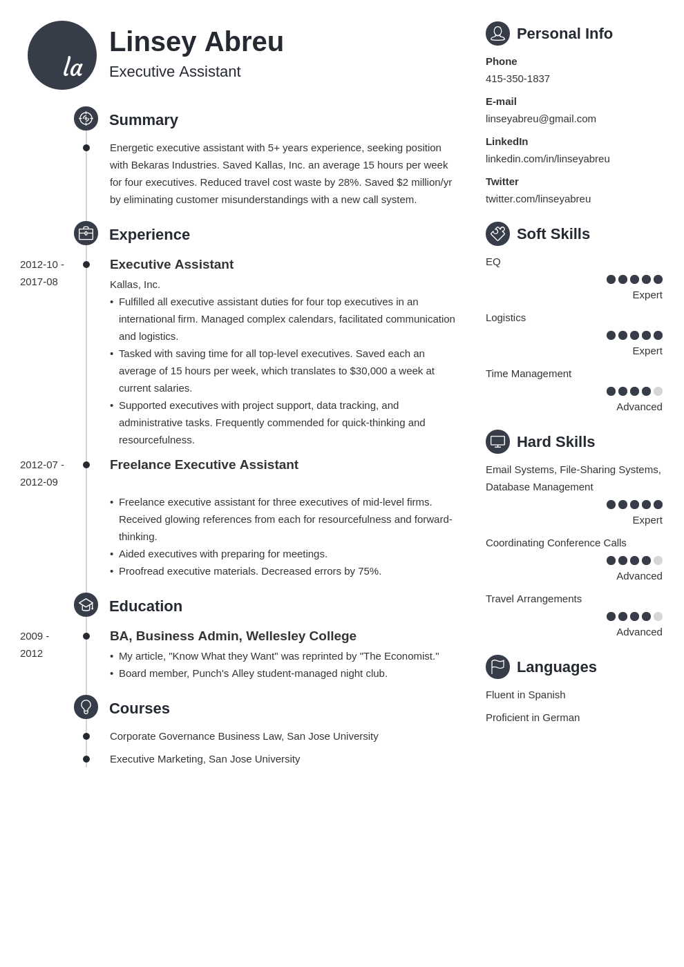 executive assistant resume examples template primo