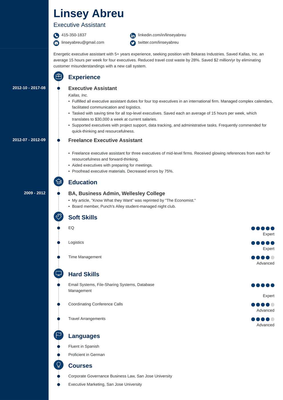 Executive Assistant Resume: Sample & Complete Guide [20+ Examples]