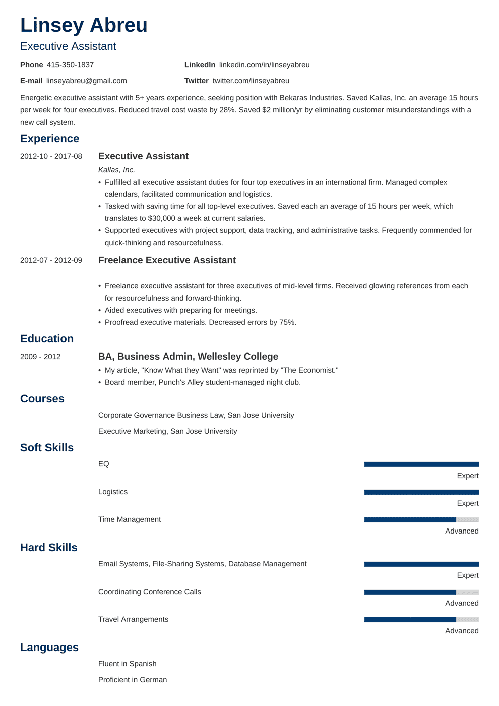 Executive Assistant Resume: Sample & Complete Guide [20+