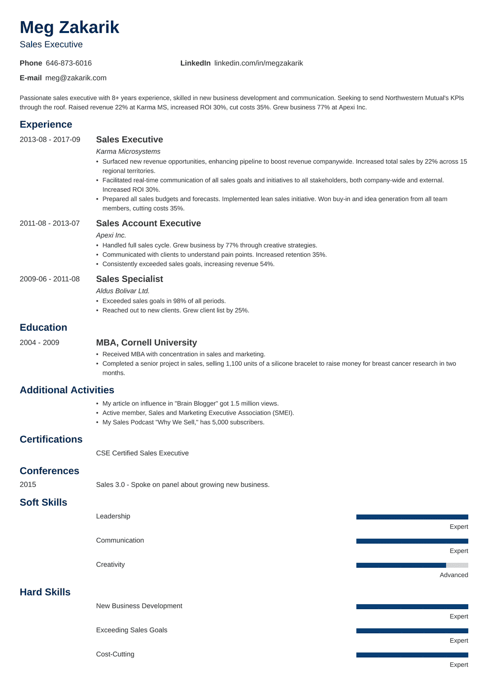Executive Resume Sample And Complete Guide 20 Examples - Executive-resume