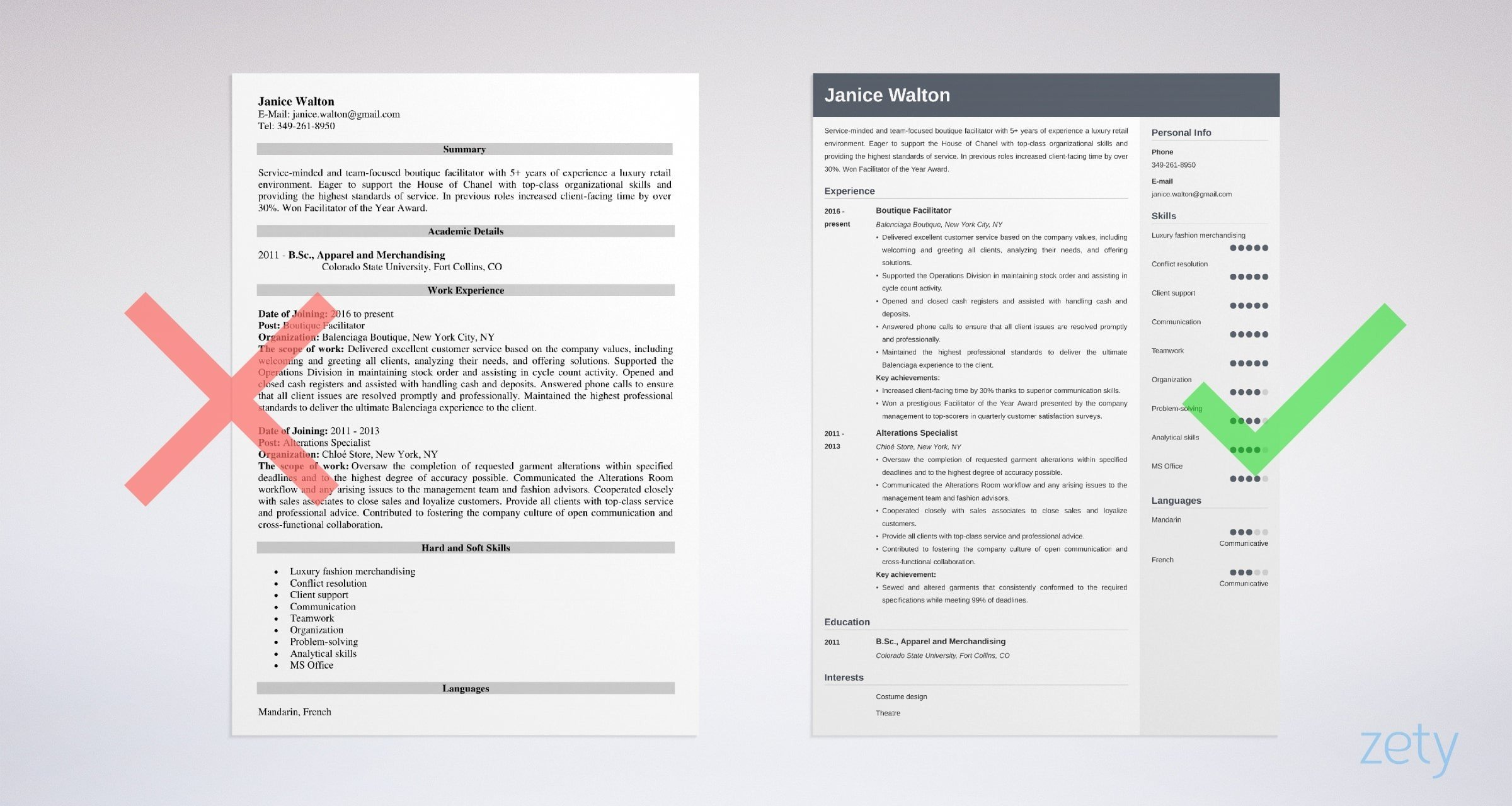 Fashion Resume Examples Templates Writing Guide 20 Tips
