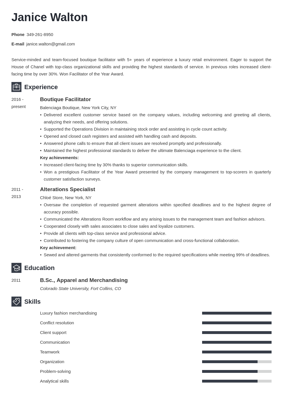fashion resume example template newcast