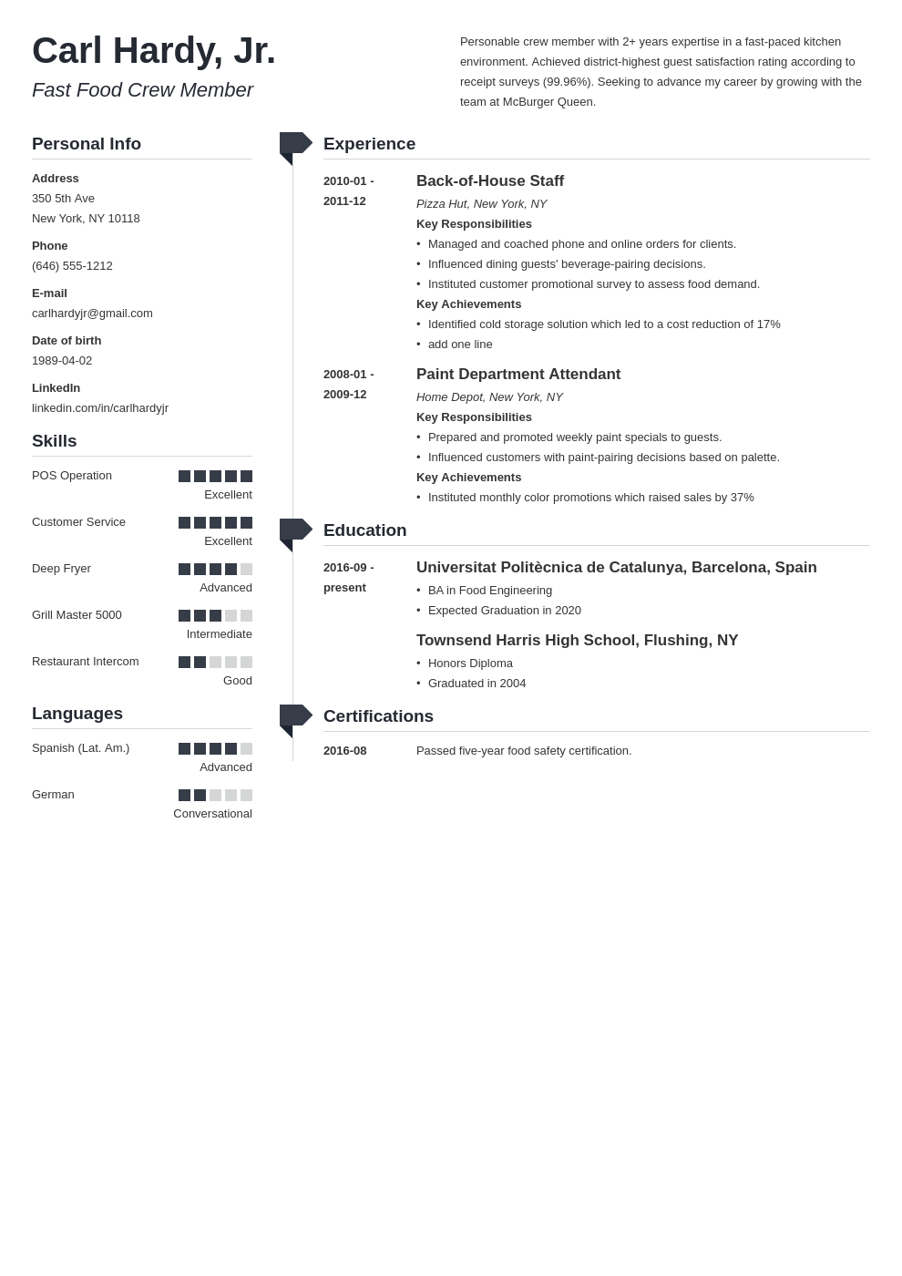 fast food resume example template muse