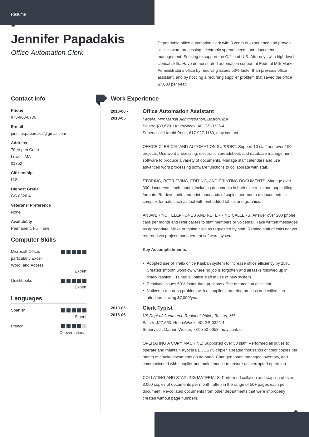 federal resume example template modern