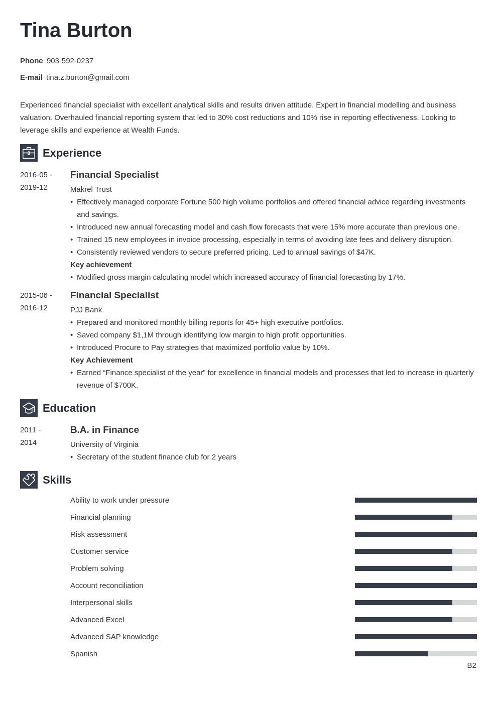 finance resume example template newcast
