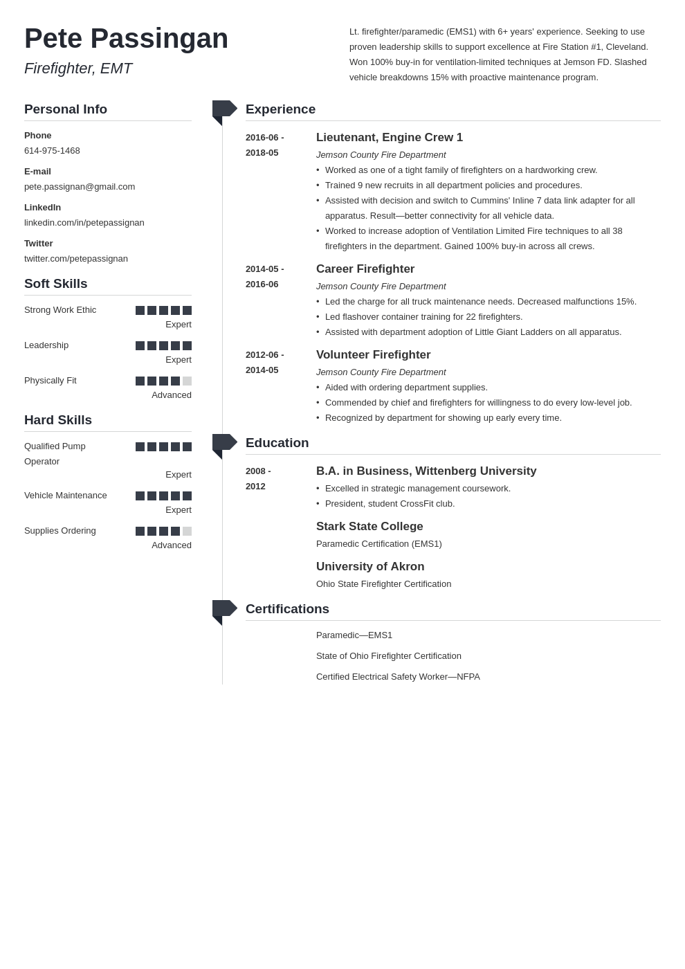 firefighter resume example template muse