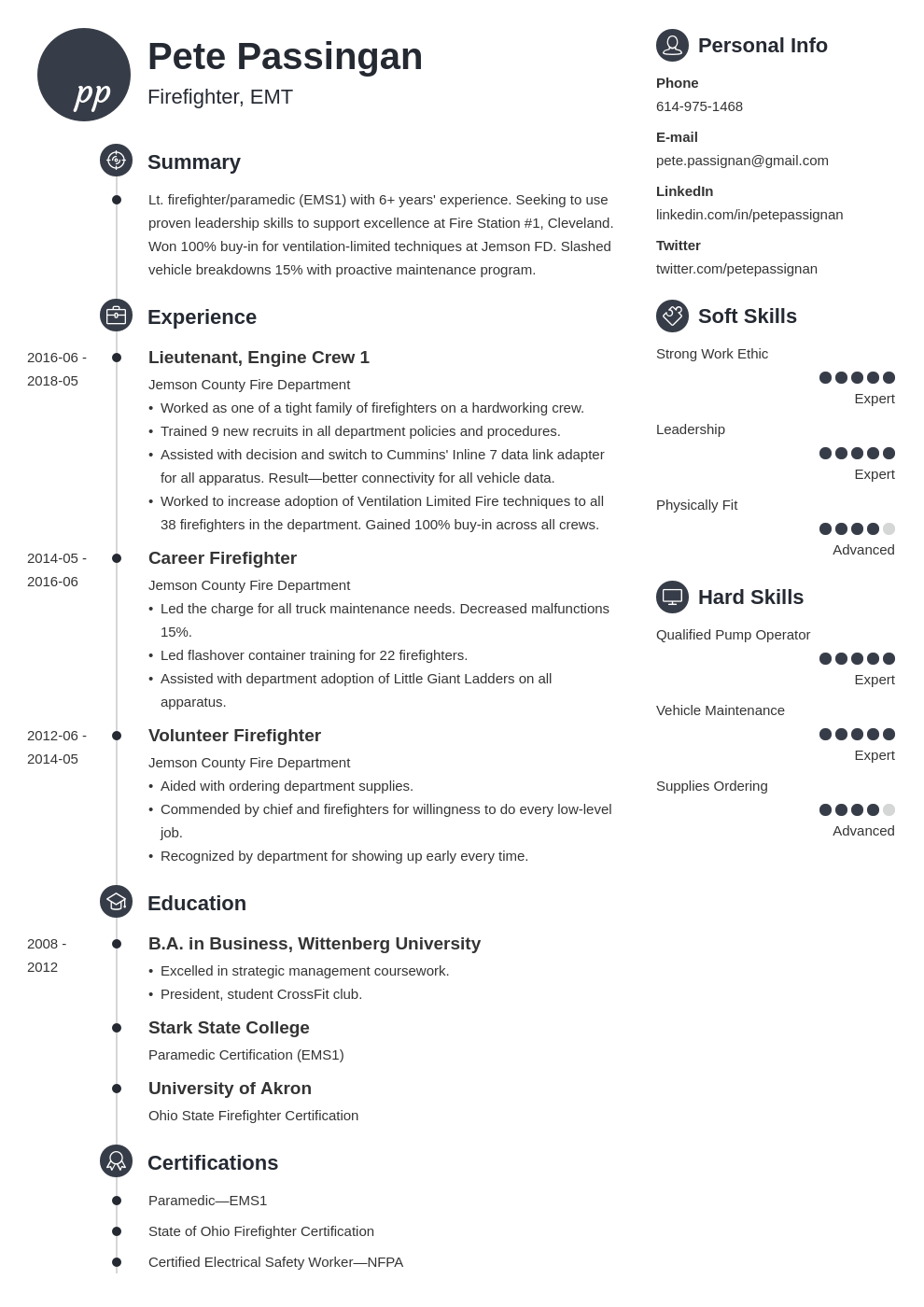 firefighter resume example template primo