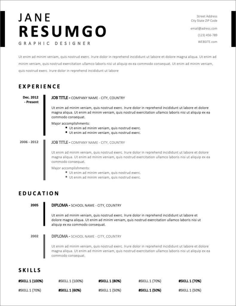 17  free resume templates for 2020 to download now