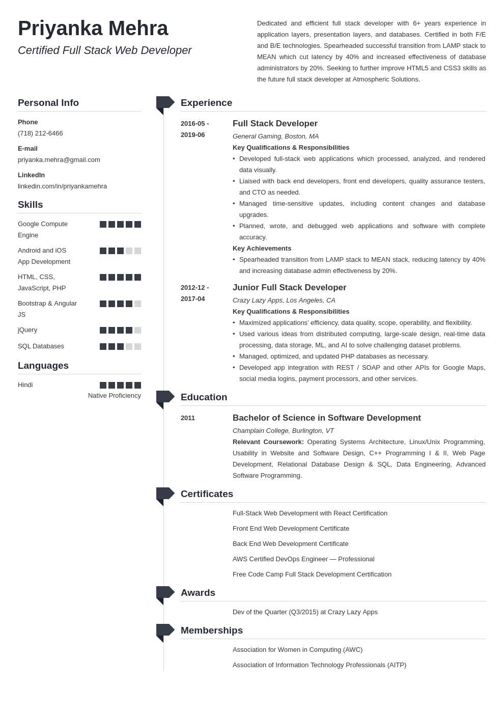 full stack developer resume example template muse