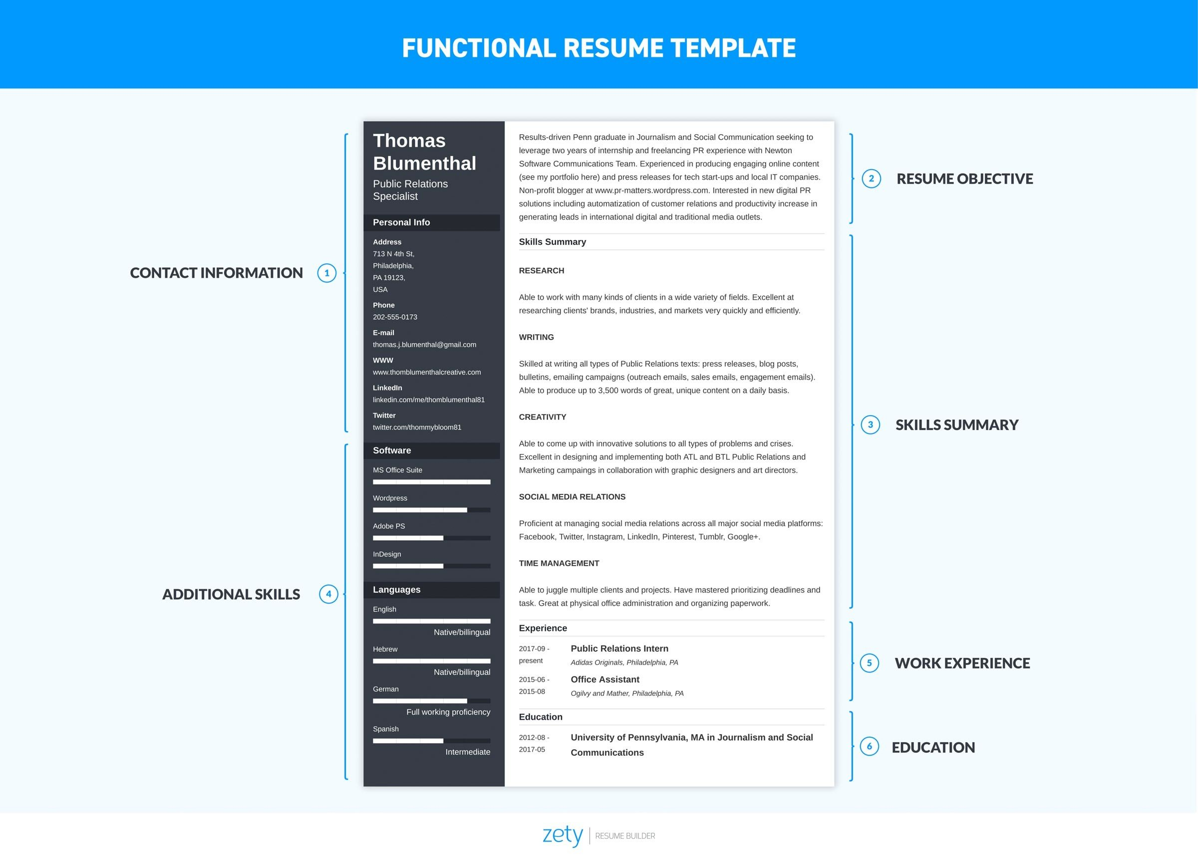 functional resume template  u0026 examples  complete guide