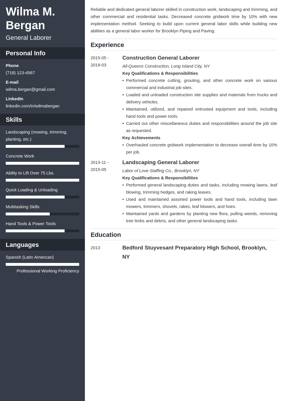 general labor resume example template cascade