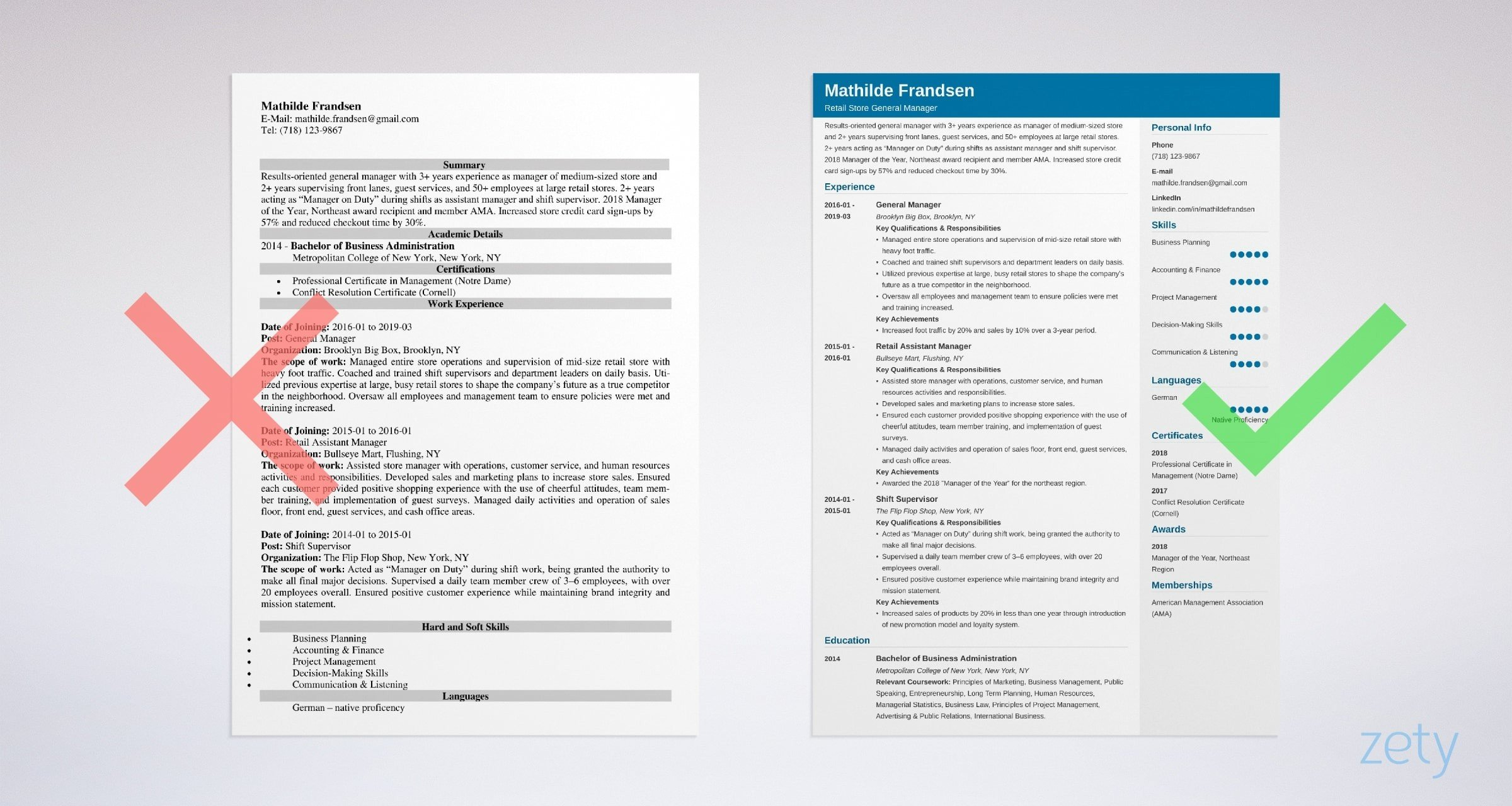 general manager resume template  guide  u0026 20  examples