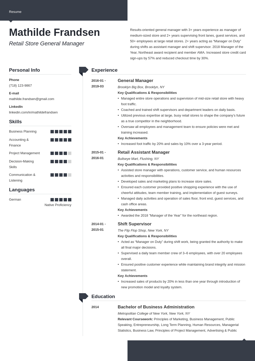 general manager resume example template modern