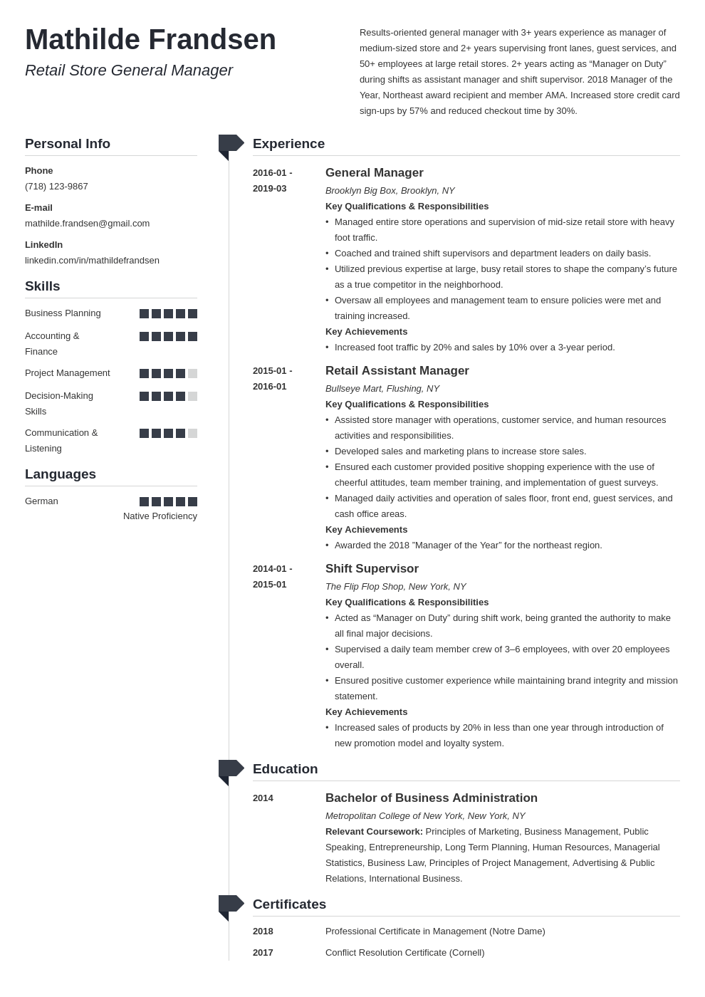 general manager resume example template muse