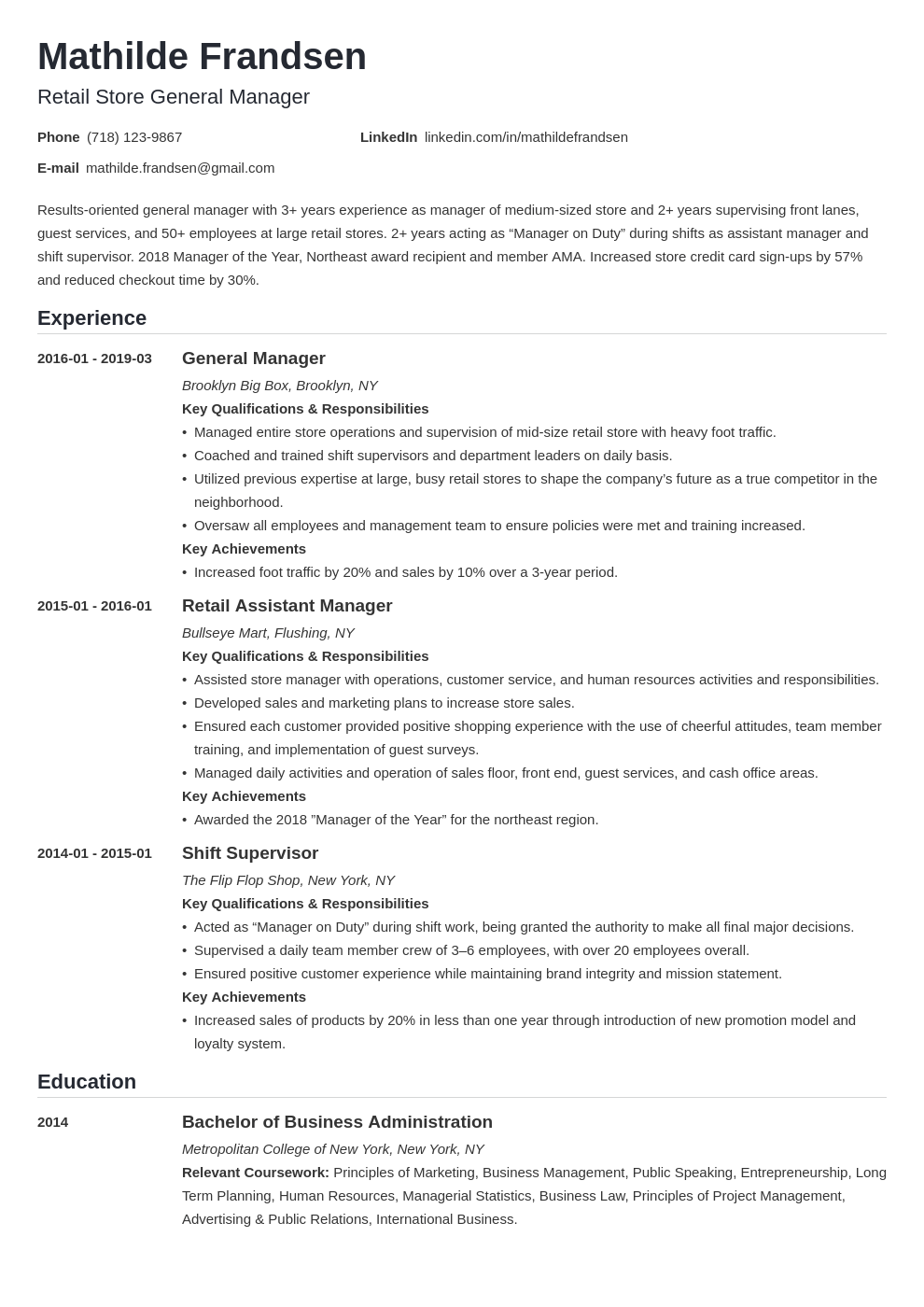 general manager resume example template nanica