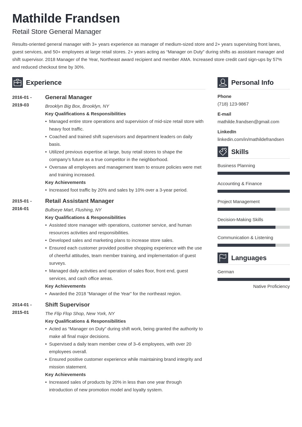 general manager resume example template vibes