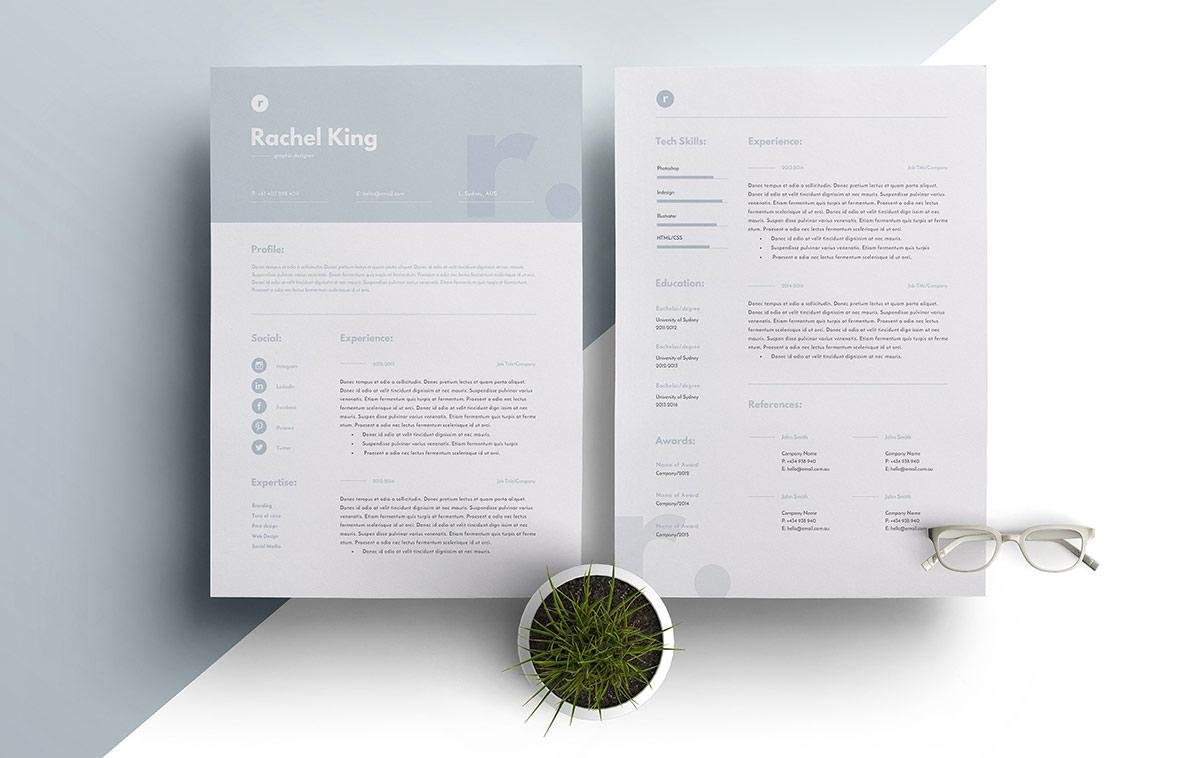 Good Resume Templates With Simple Design And Large Header. U201c