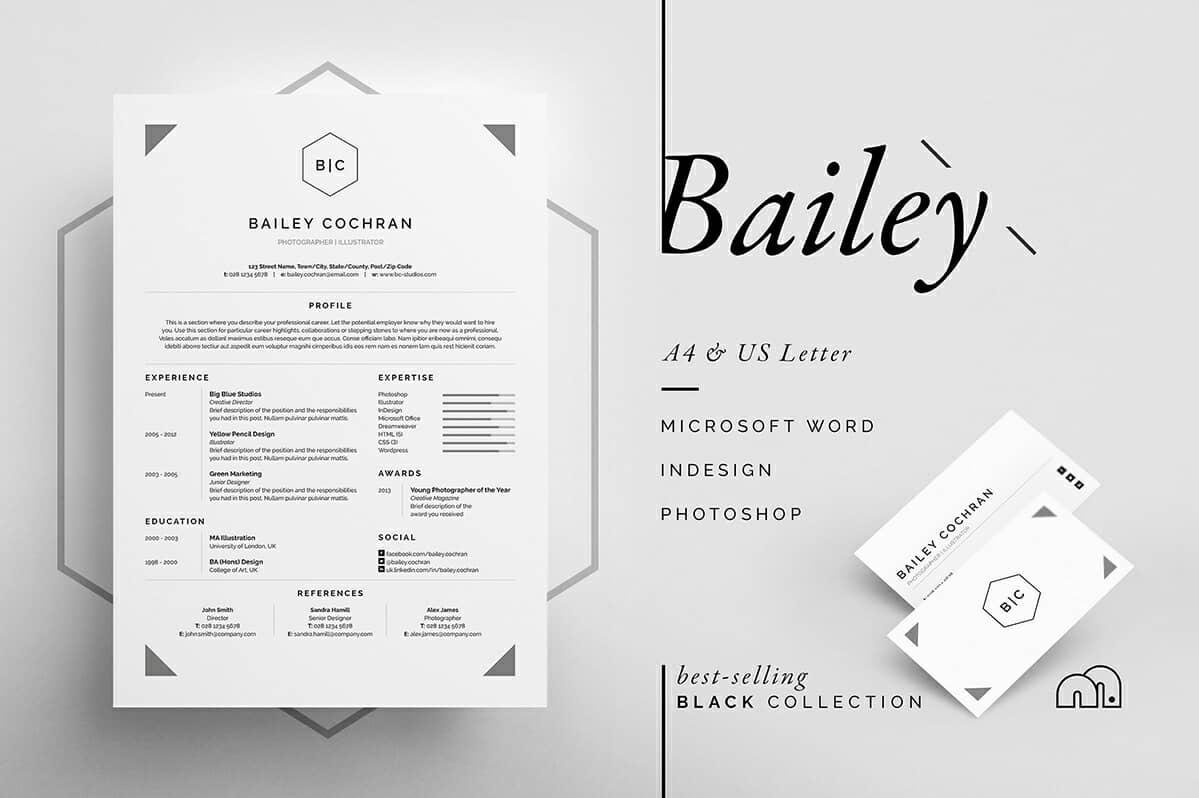 great resume formatting example with hexagonal initials section