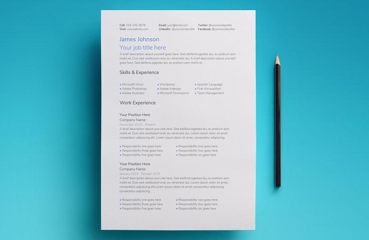 Saturn Google Docs Resume Template
