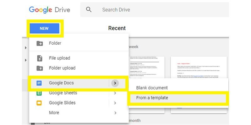 Google Drive Resume Template Search  Resume Templates On Google Docs