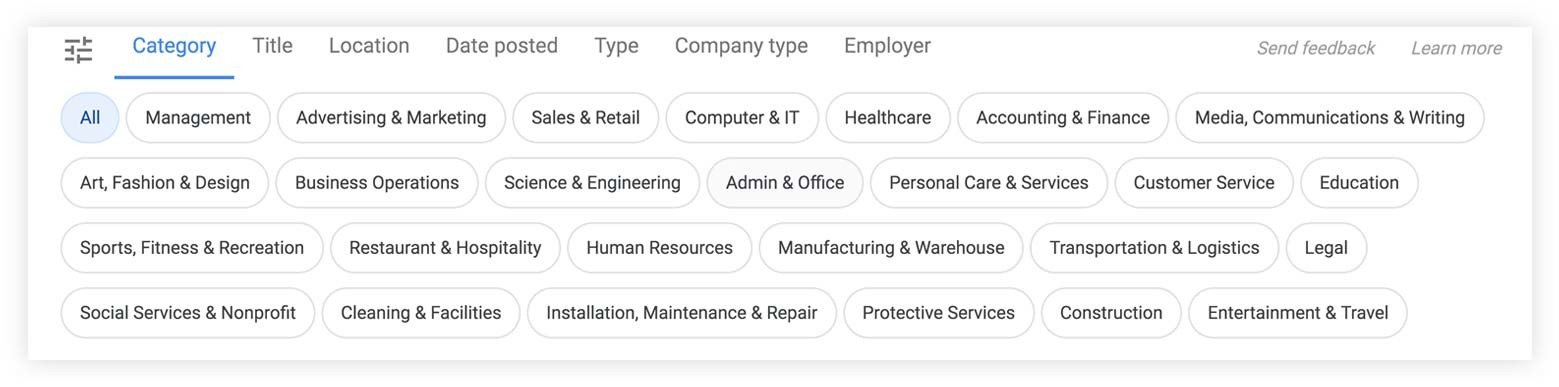 google for jobs tags