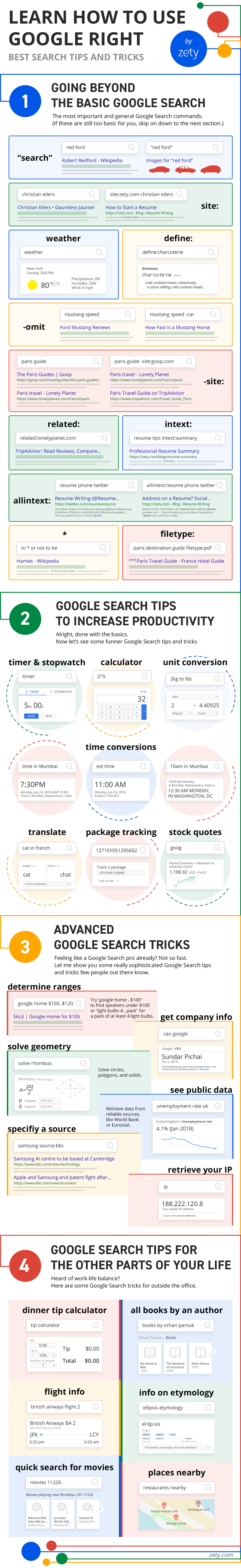 40+ Best Google Search Tips, Tricks & Hacks for 2019 [Infographic]