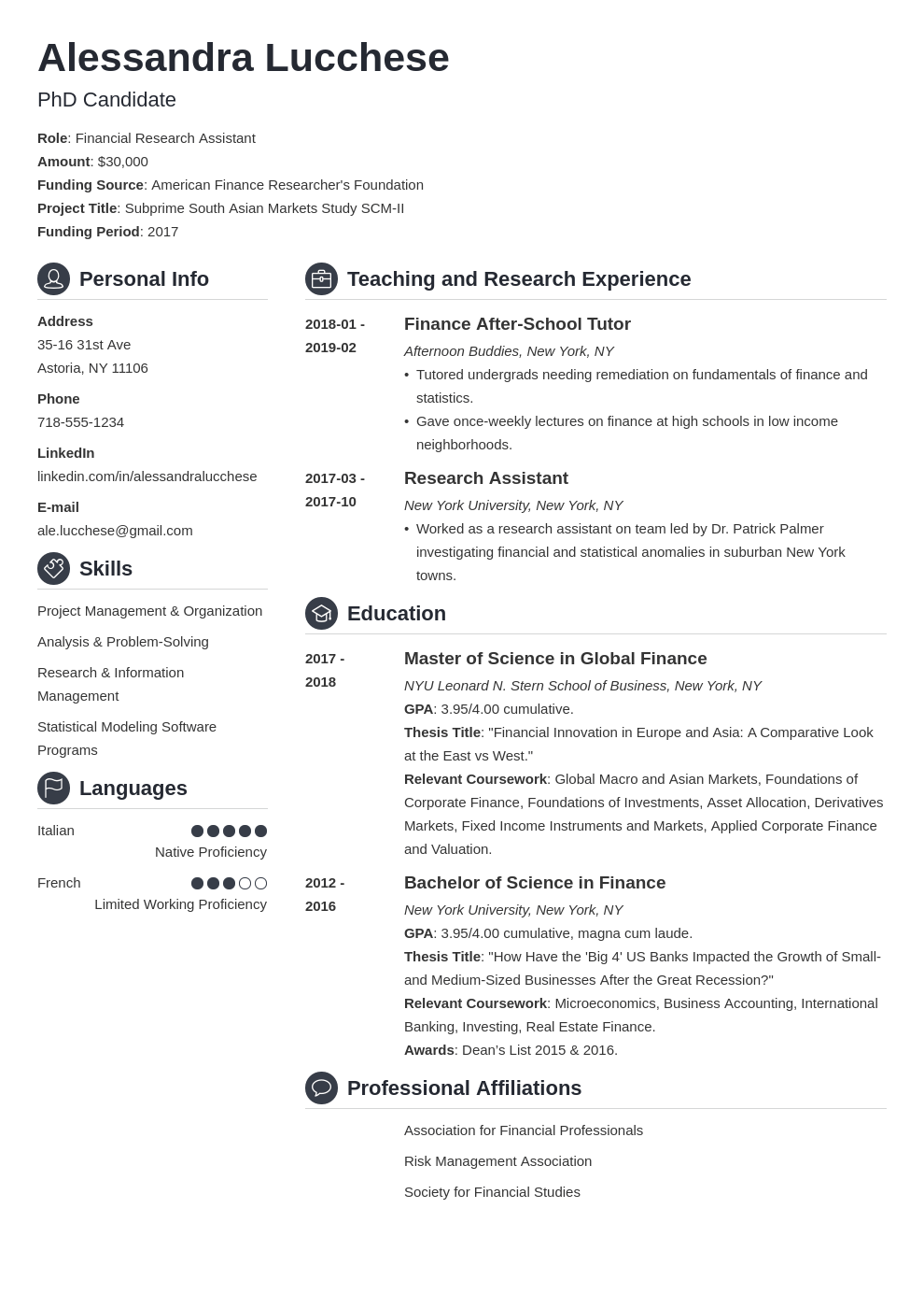graduate school resume example template crisp