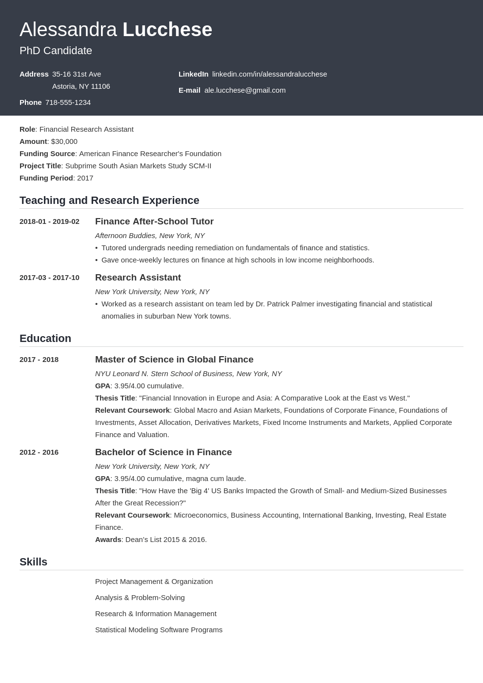 graduate school resume example template influx