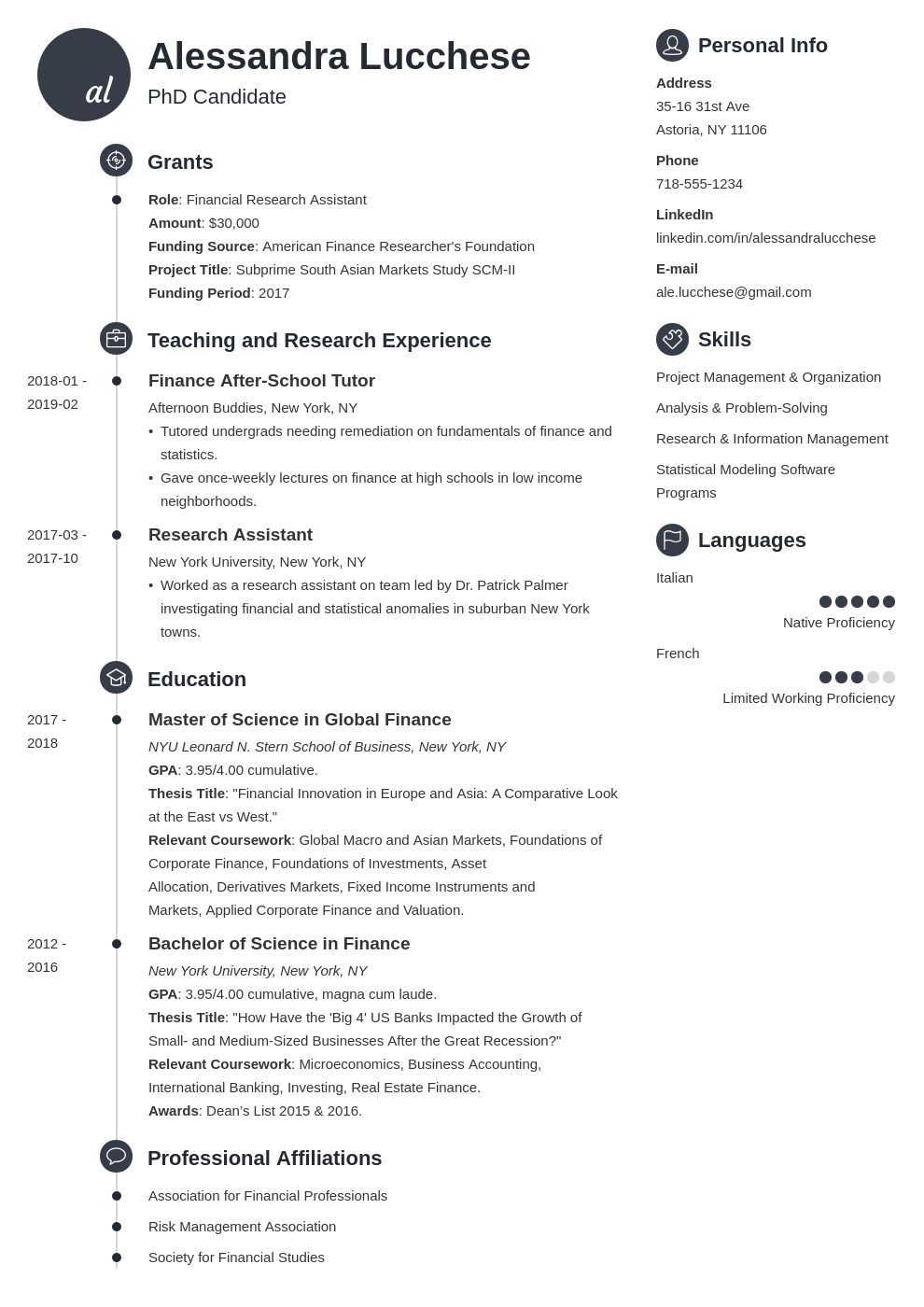 graduate school resume example template primo