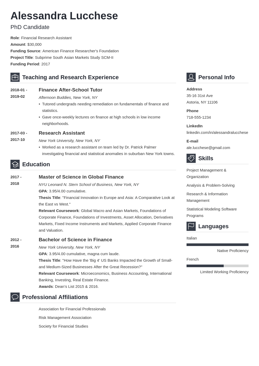 graduate school resume example template vibes