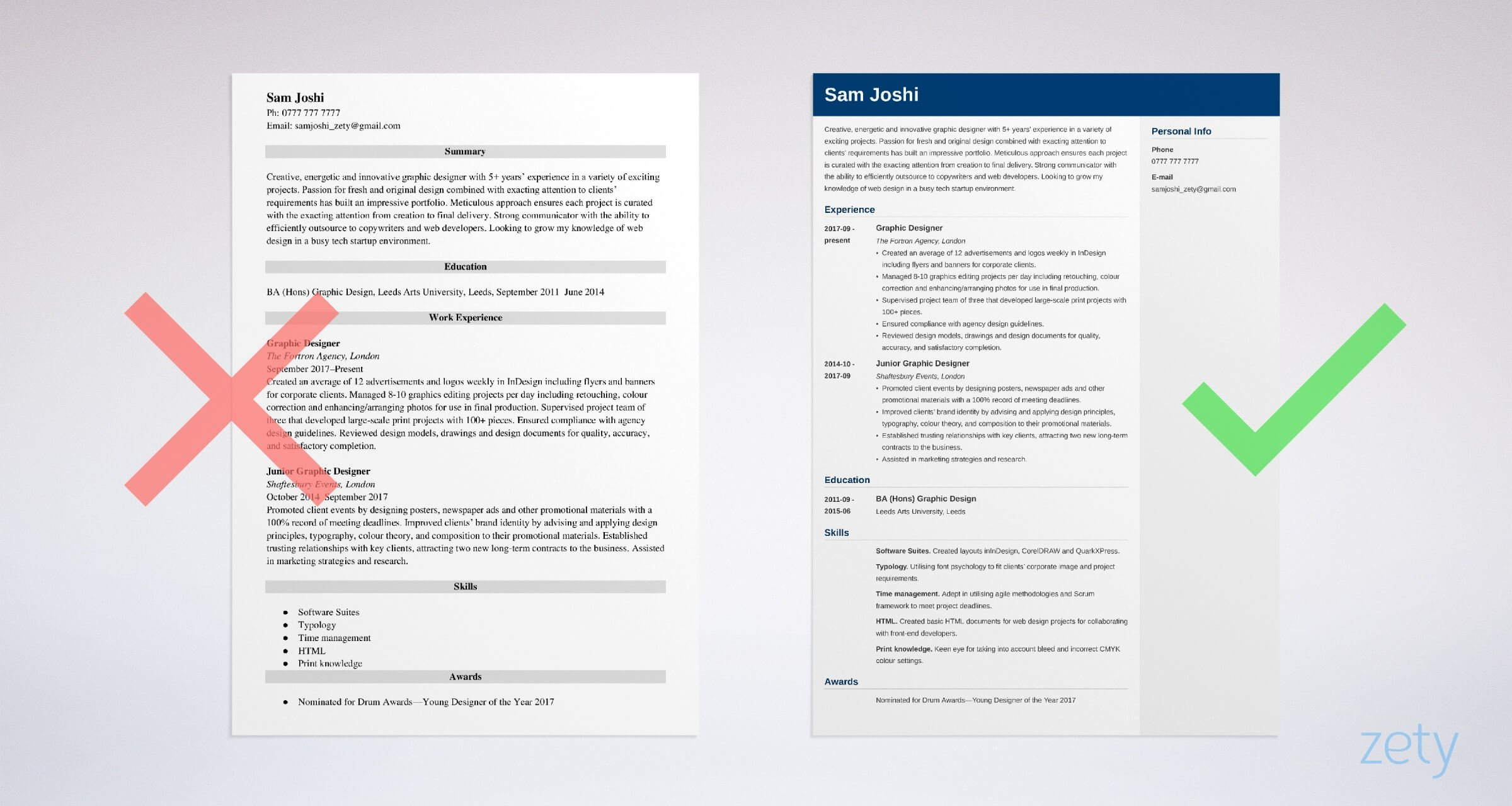 graphic designer cv templates