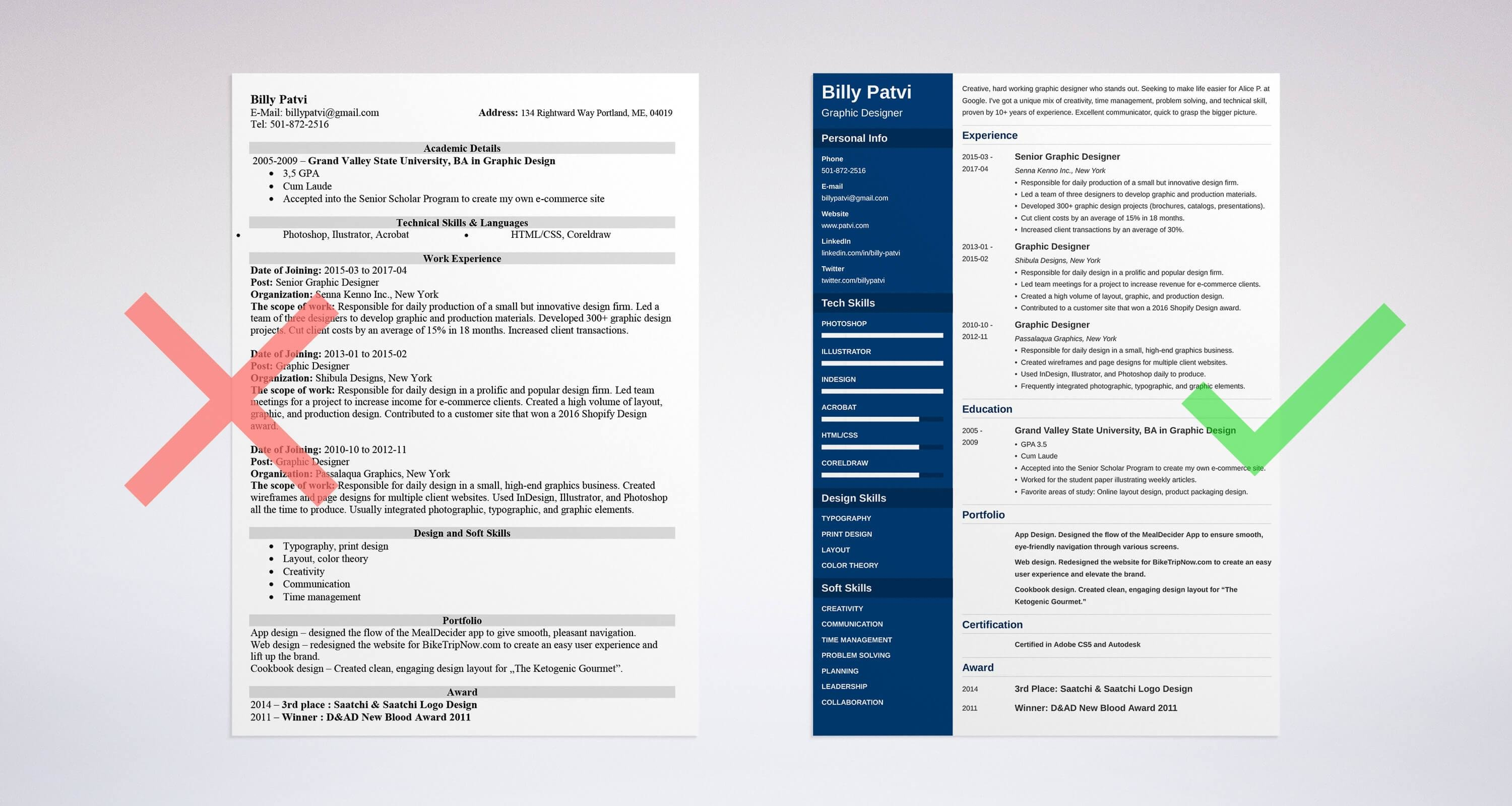 how to write resume for graphic designer