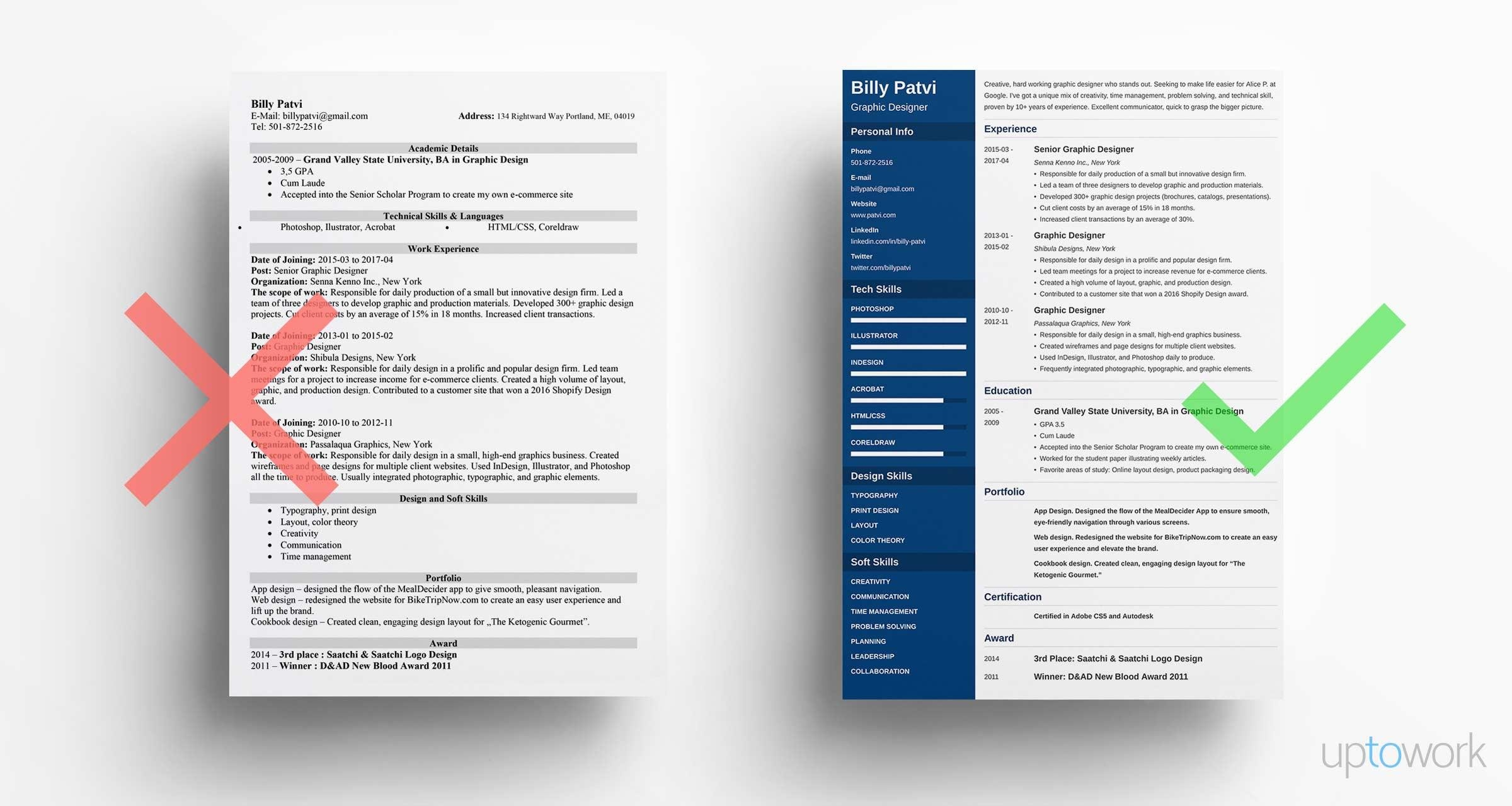 Graphic Design Resume: Sample U0026 Guide [+20 Examples]