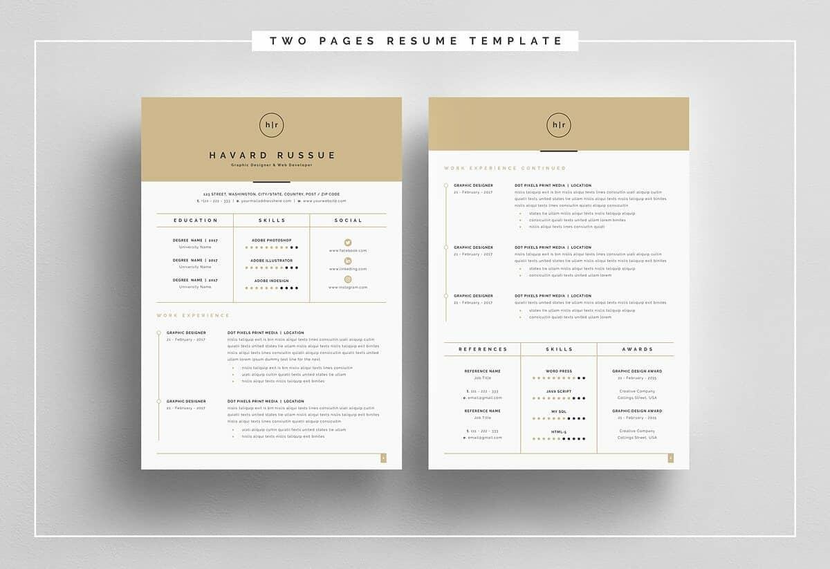 great resume templates with beige header