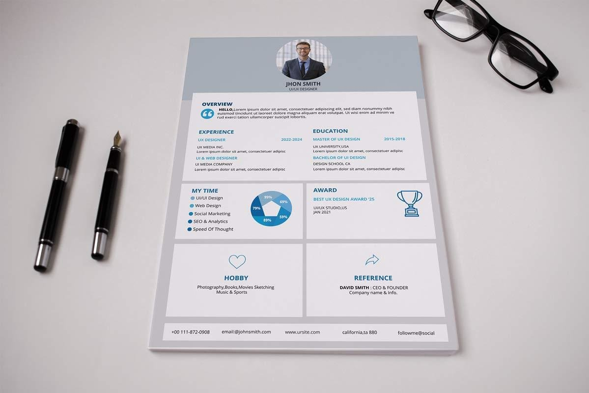 great resume format with graph