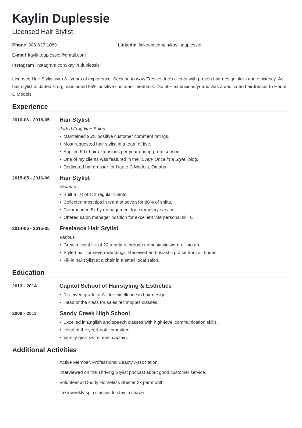Hair Stylist Resume Cover Letter from cdn-images.zety.com