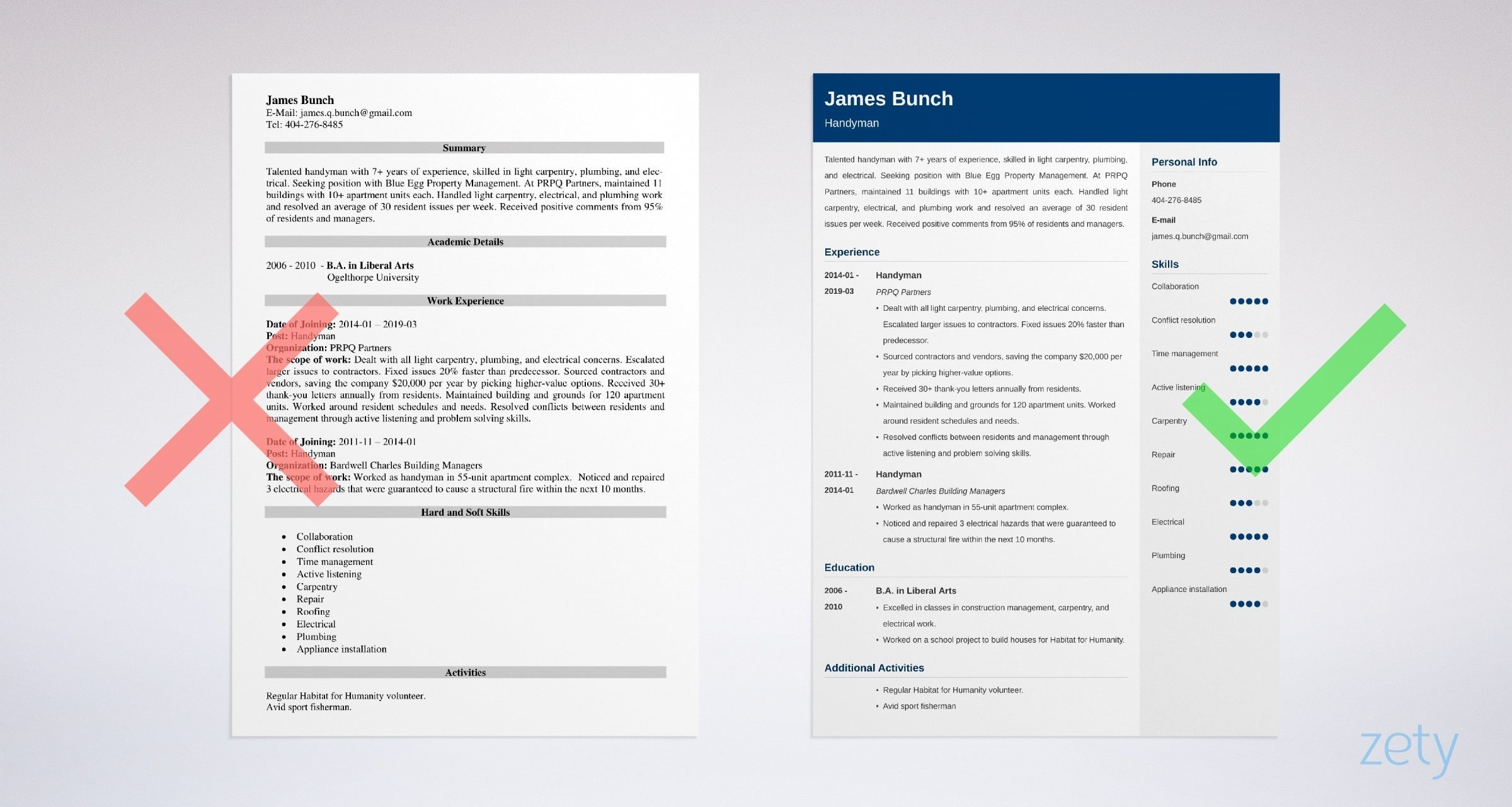 Handyman Resume  Sample and Complete Writing Guide  20 Tips