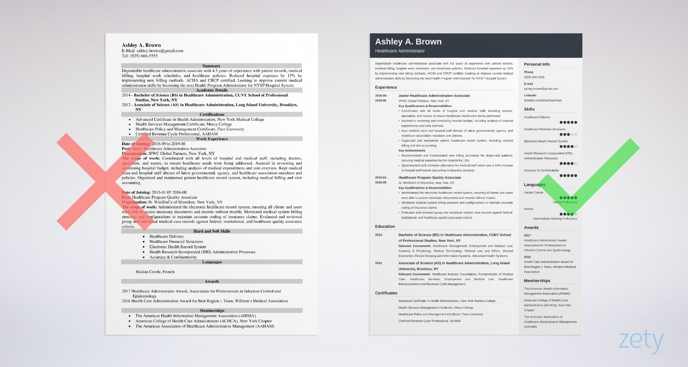 Healthcare Resume Sample Complete Writing Guide 20 Tips