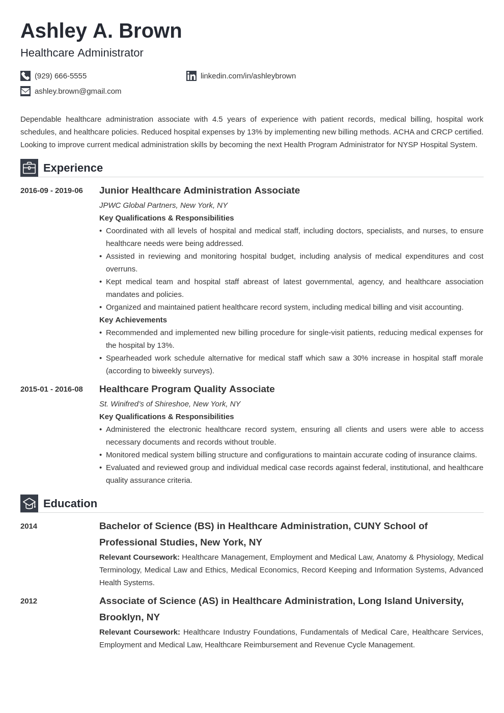 healthcare resume example template iconic