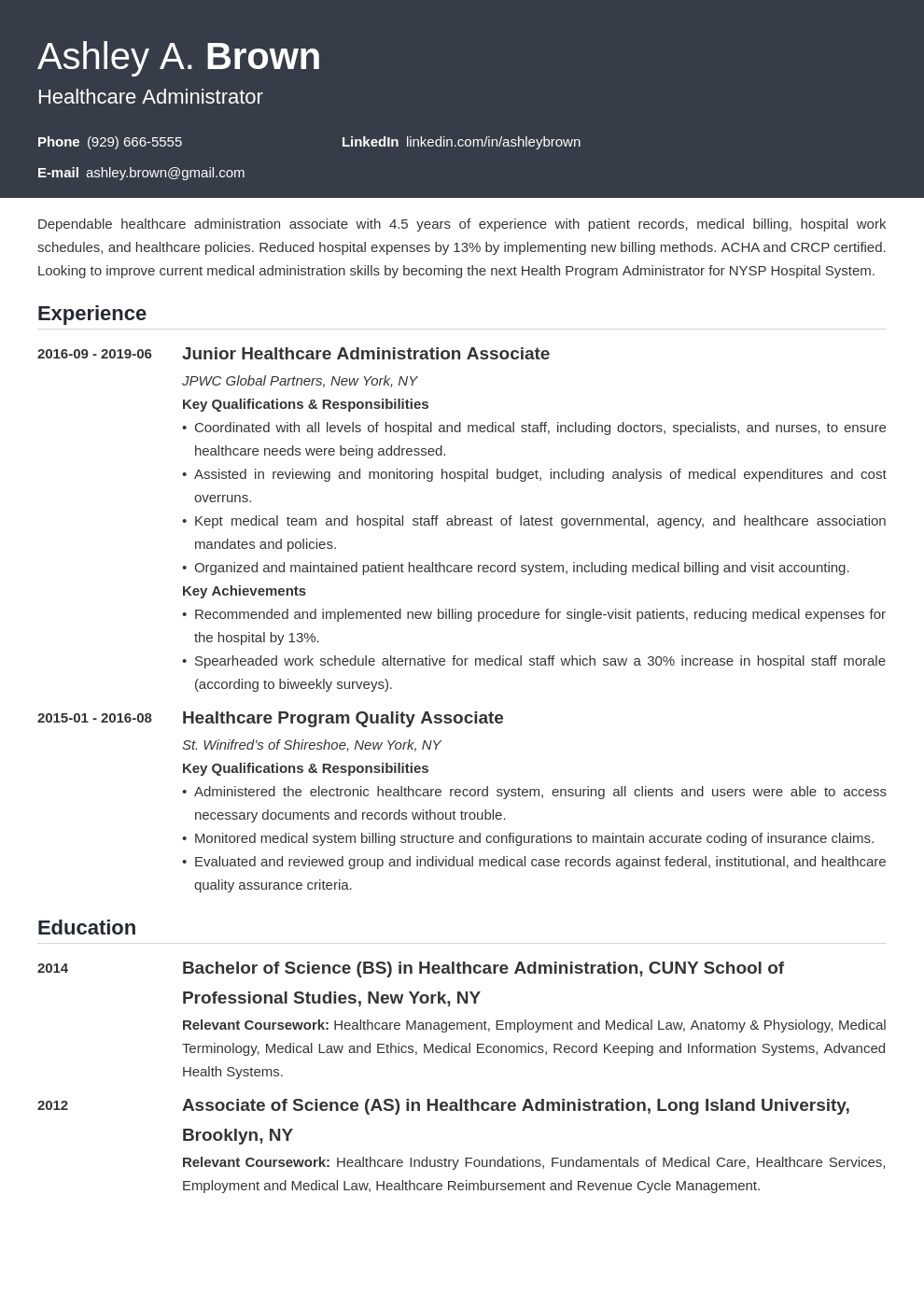 healthcare resume example template influx