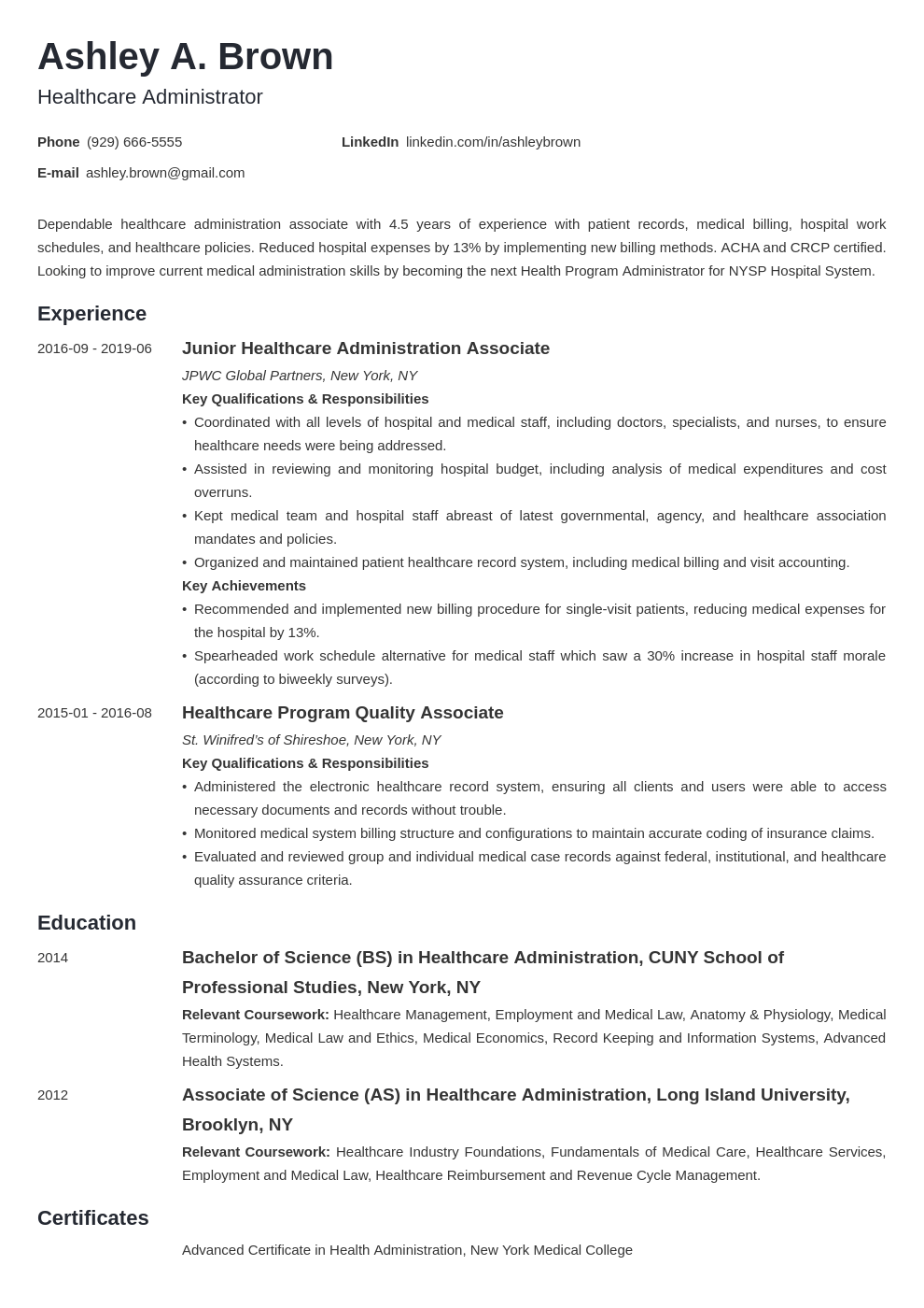 Healthcare Professional Resume Samples Amp Writing Tips
