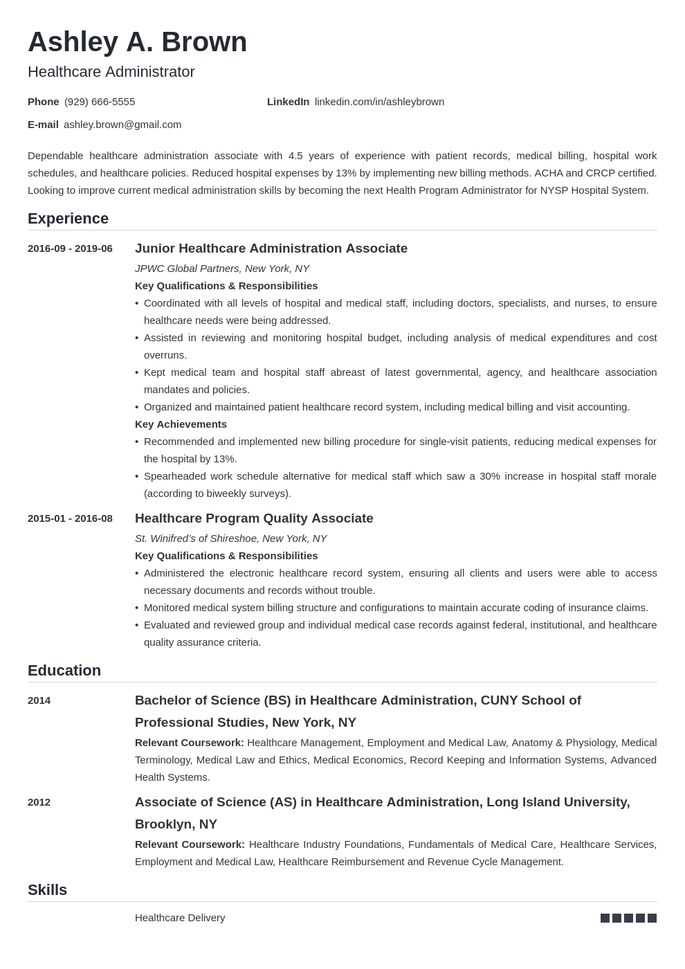 healthcare resume example template nanica