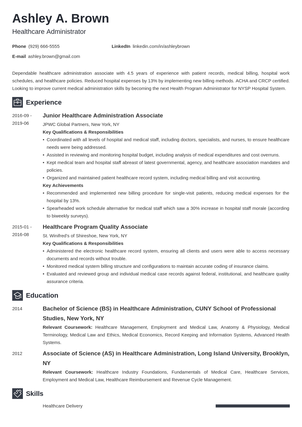 healthcare resume example template newcast