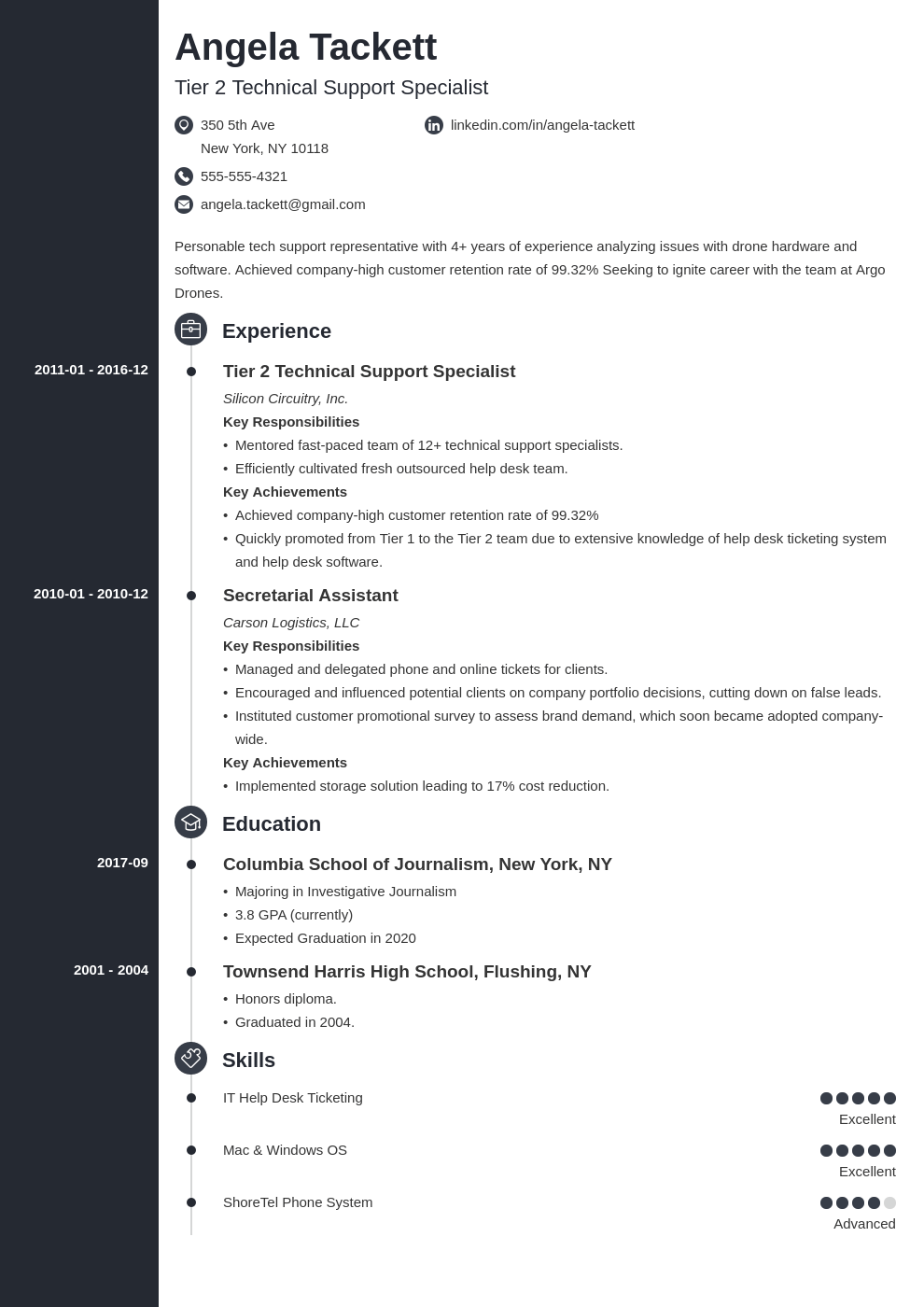help desk resume example template concept