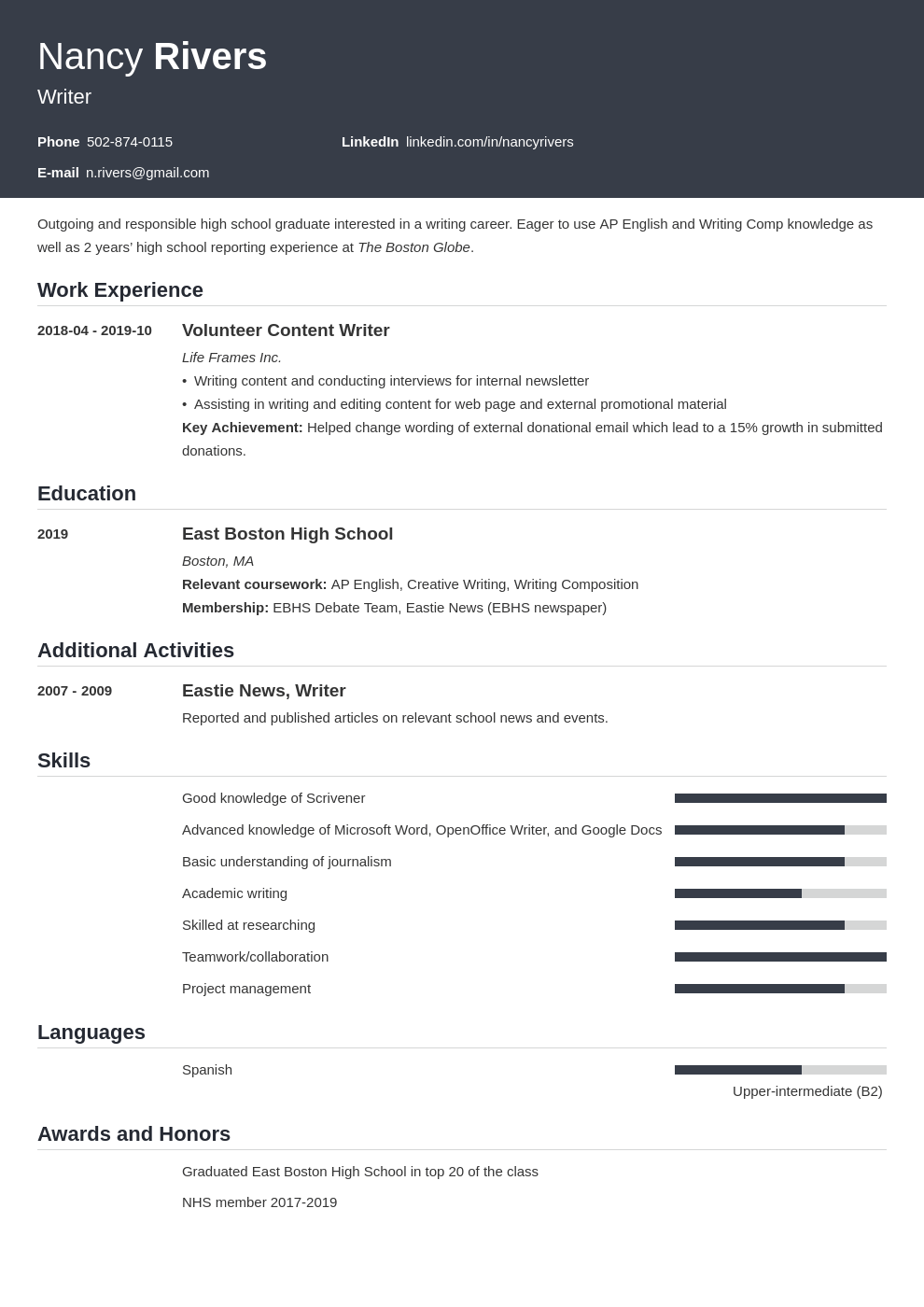 high school graduate resume example template influx