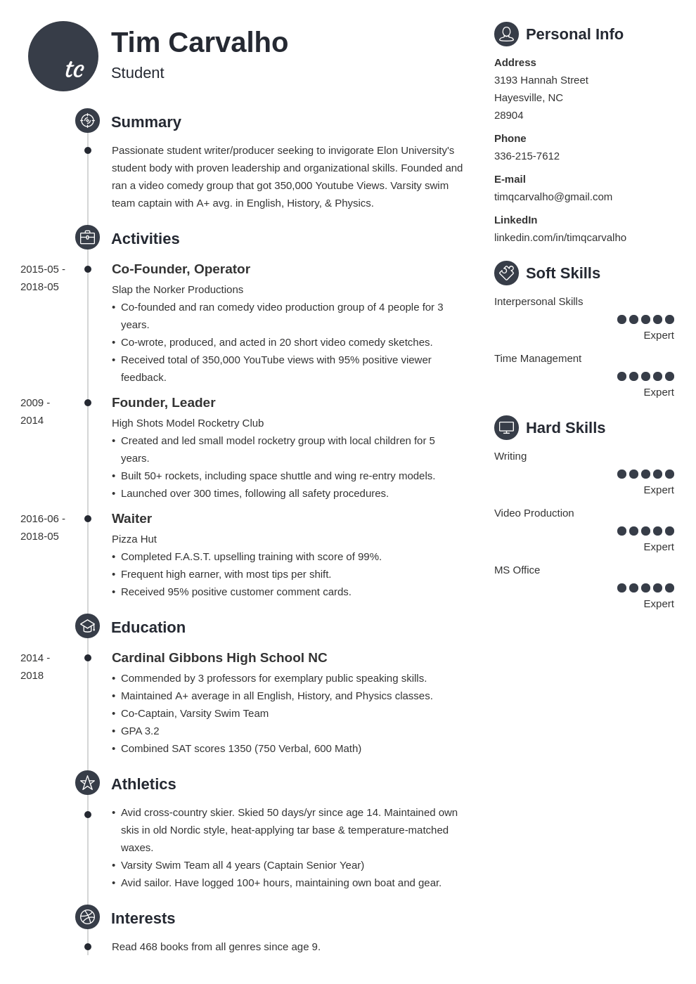 college resume template for high school students  2020